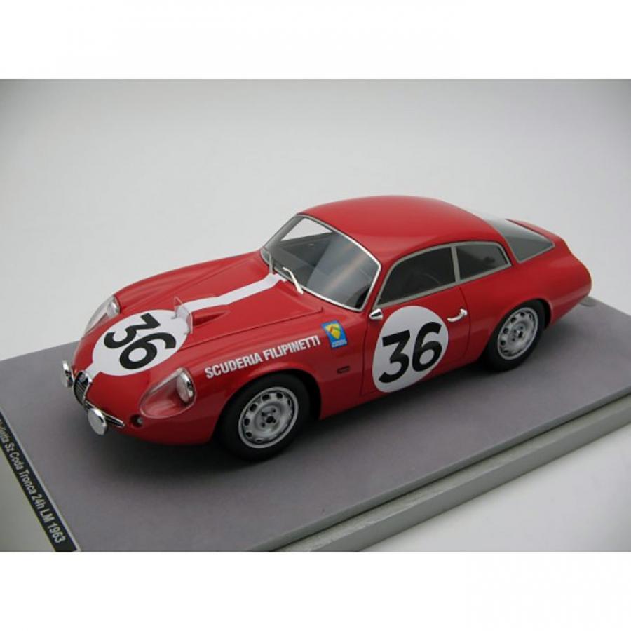 TM18-71D 1//18 scale Tecnomodel Alfa Romeo SZ Coda Tronca Le Mans 24h 1963