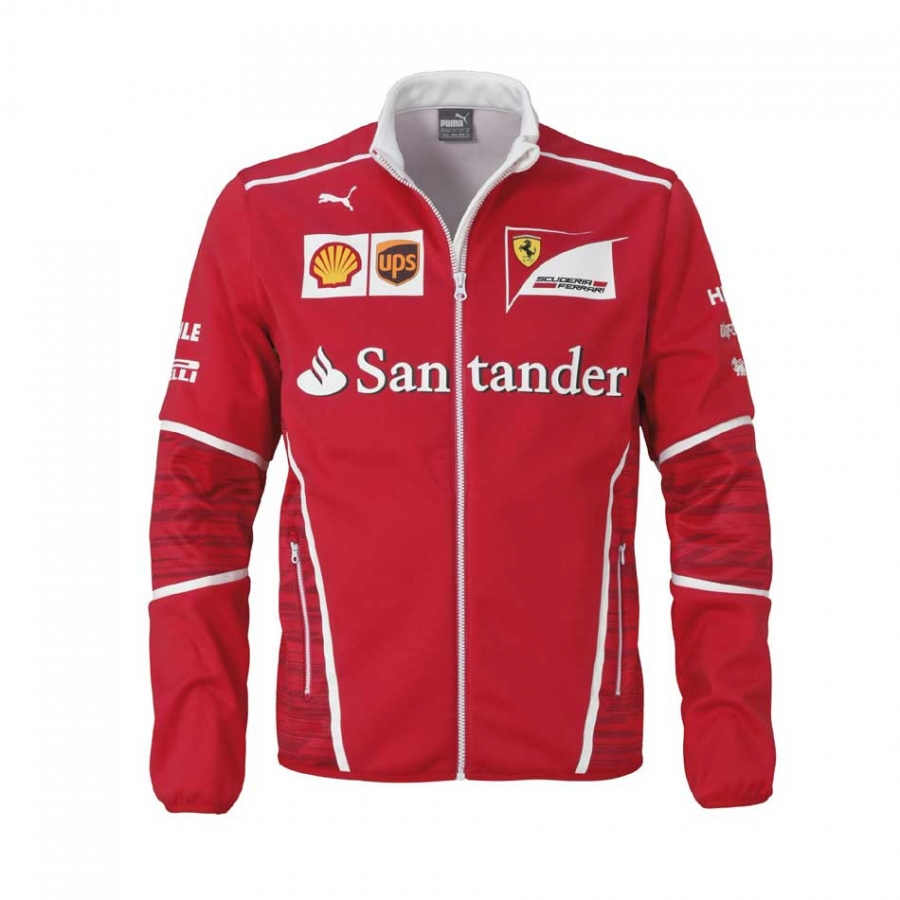 ferrari red scuderia mens jacket tricolour clothing team hoodie image