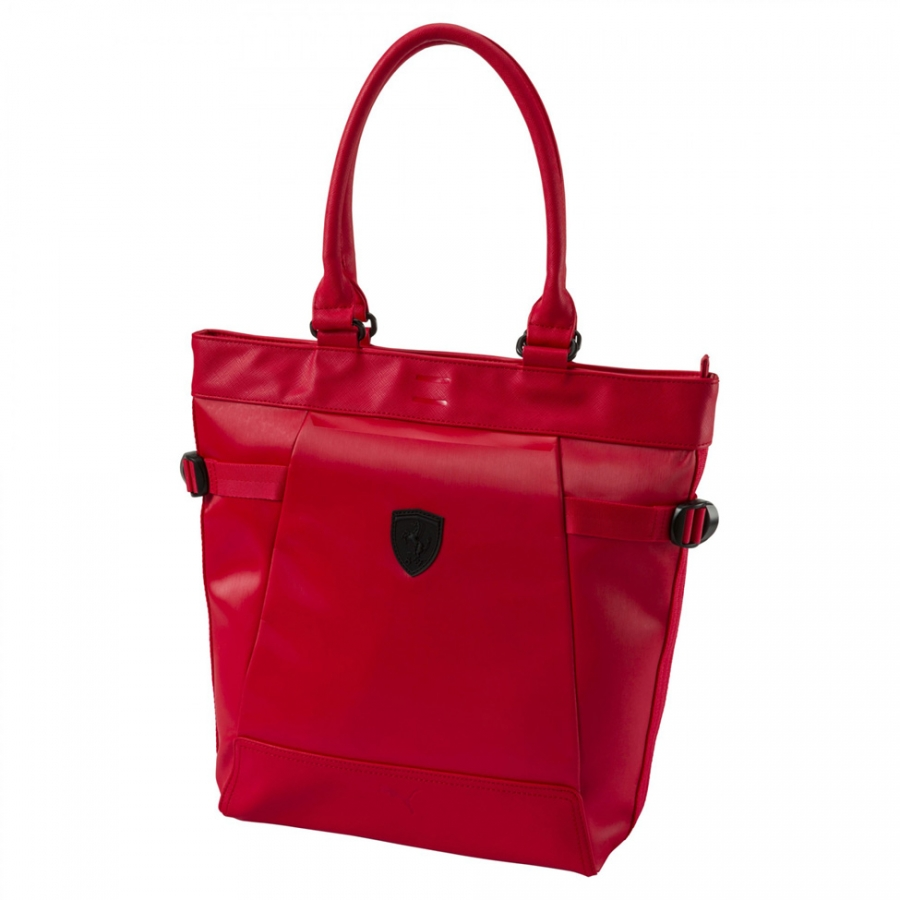 Puma Ferrari Ls Red Shopper Bag Fr7902