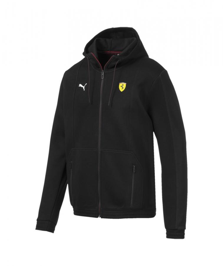Puma Scuderia Ferrari Black Zip Hooded Sweat Jacket Ebay