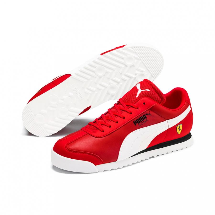 Scuderia Ferrari Roma Red Mens Sneakers