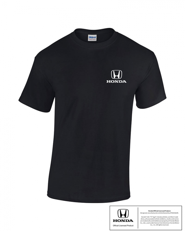 honda black h logo tee shirt ebay. Black Bedroom Furniture Sets. Home Design Ideas
