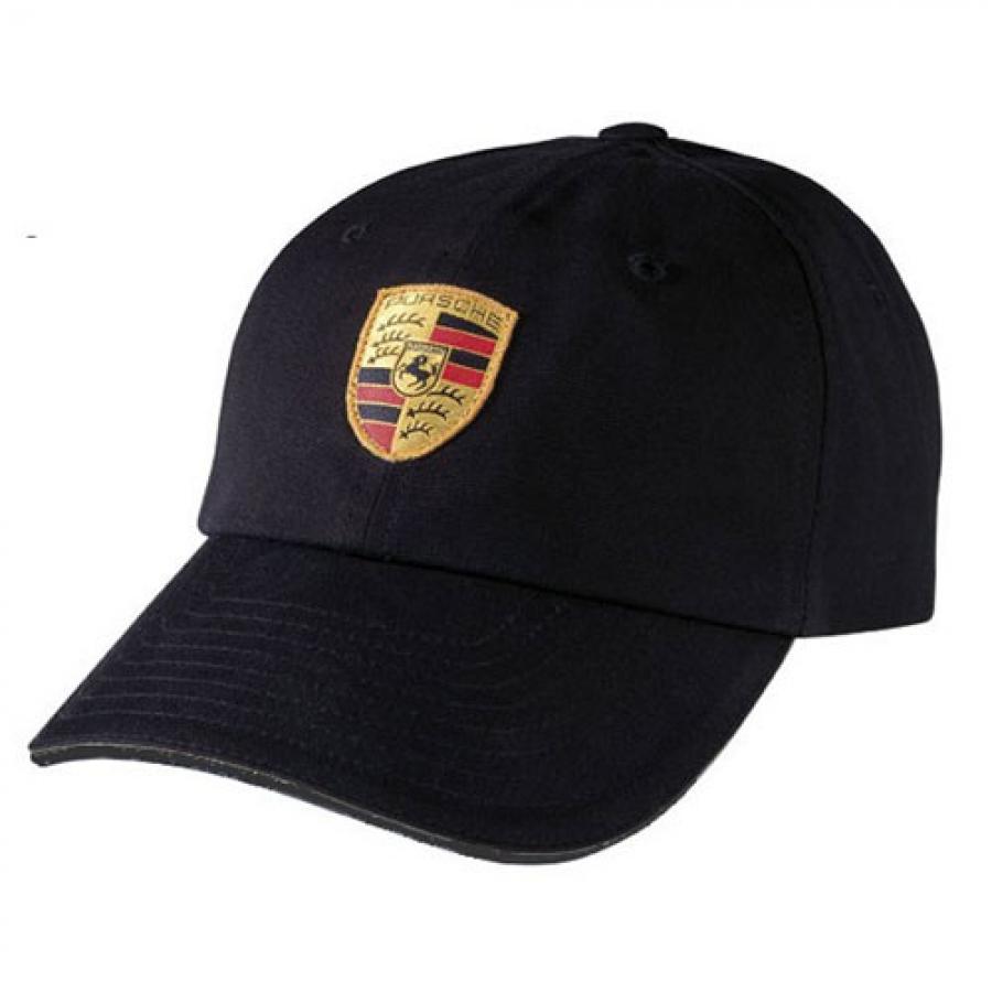 Porsche Crest Black Logo Hat Pr7513