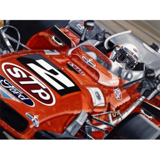 Mario Andretti Indy 500 Signed Lithograph- AW8906