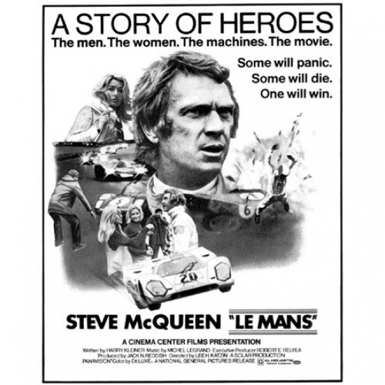 Steve McQueen Story of Heroes Poster- AW9912