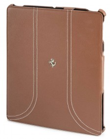 Ferrari iPad 3 FF Camel Leather Case