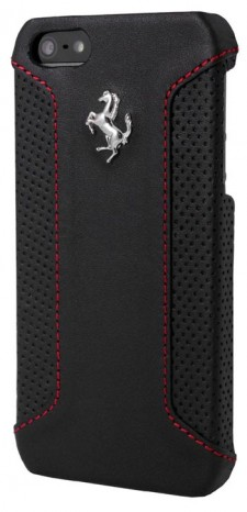 Ferrari F12 iPhone 6 Plus Black Leather Case